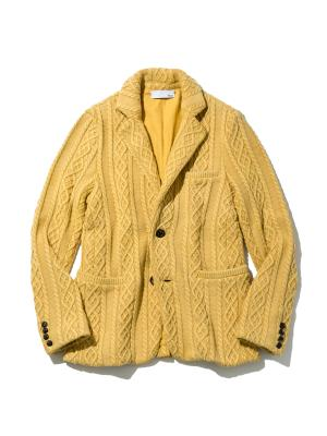 Mens Aran cable Knit Jacket with Vintage Finish 20