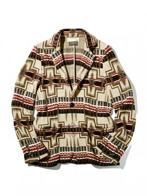 Mens Knit Jacket with PENDLETON