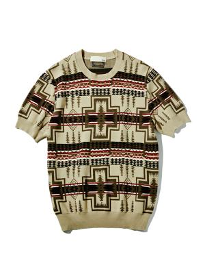 Mens Half Sleeve Knit with PENDLETON