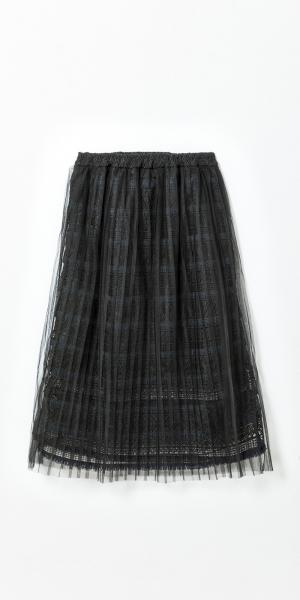 Womans Double Pleat Lace Skirt