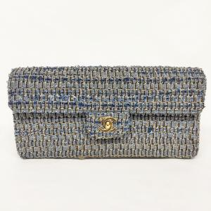 VINTAGE CHANEL DENIM TWEED CLUTCH