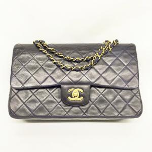 CHANEL VINTAGE 2.55 LAMBSKIN MEDIUM DOUBLE FLAP
