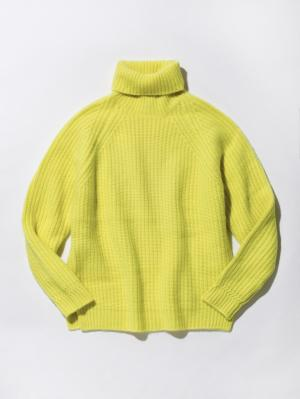 Mens Pure Cashmere Tuck Knit
