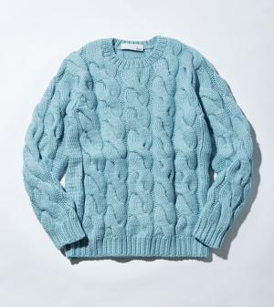 PURE CASHMERE HAND KNIT CREW NECK